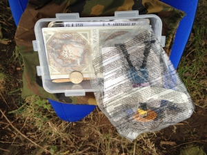 Well-stocked cache near the A55