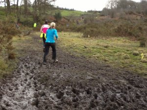 Muddy sections not up to Beast standards!