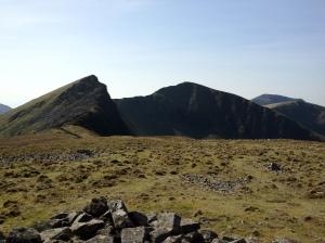 The Nantlle Ridge, from Y Garn