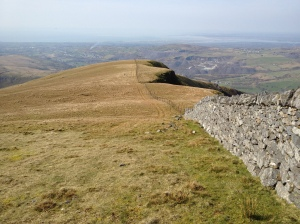 Descending NW from Mynydd Tal-y-mignedd