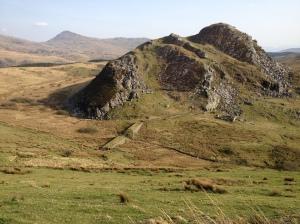 Clogwynygarreg, from the climb to Mynydd Mawr