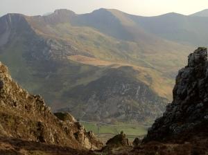 The Nantlle Ridge from Craig y Bera